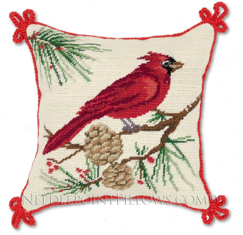 Cardinal Bird Throw Pillows : Christmas Cardinal Throw Pillows Christmas Wikii