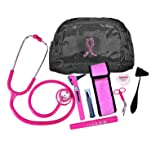 Pink Breast Cancer Combo Kit W/ Otoscope (Color: Pink)