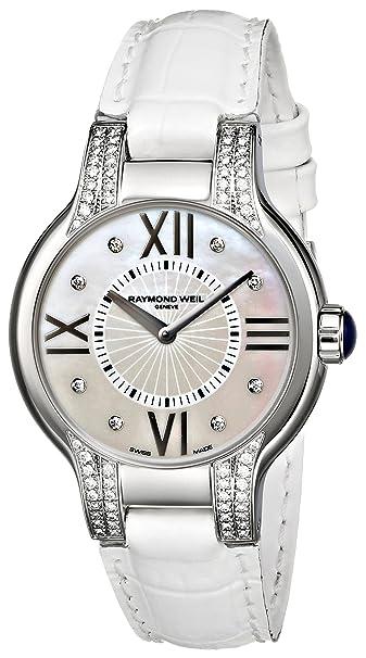 Raymond Weil Women's 5932-SLS-00995 Noemia Analog Display Swiss Quartz White Watch