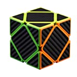 BUDI Speed Cube, Oblique Rubik's Cube Carbon Fiber Sticker Skewb Magic Cube Puzzle Fast and Smooth Time-Tested Classic Cube Puzzle (Color: Oblique Speed Cube, Tamaño: Speed Cube Oblique)