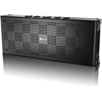 iClever Aluminum Portable Bluetooth Waterproof Speaker with Mic (Black)
