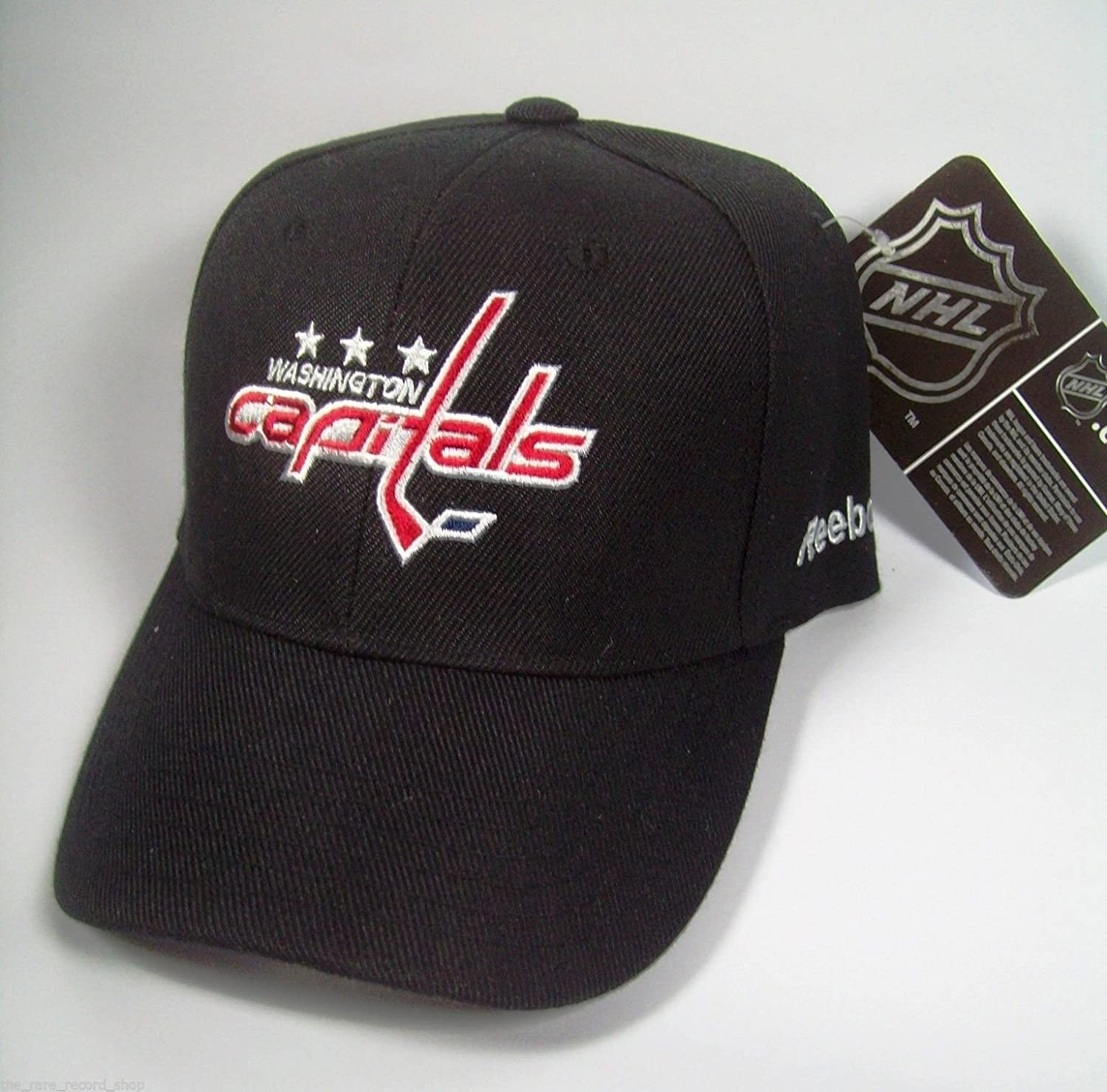 Reebok Black Washington Capitals NHL Hockey Basic Logo Adjustable Cap Hat eric fehr washington capitals nhl action photo size 8 x 10
