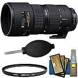 Nikon 80-200mm f/2.8D ED AF Zoom-Nikkor Lens with UV Filter + Kit for D3300, D5300, D5500, D7100, D7200, D610, D750, D810, D4s Cameras