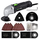 Oscillating Tool, GALAX PRO 1.5A 6 Variable Speed Oscillating Multi-Tool Kit, Oscillating Angle:3°, Perfect for Cutting, Sanding and Scraping