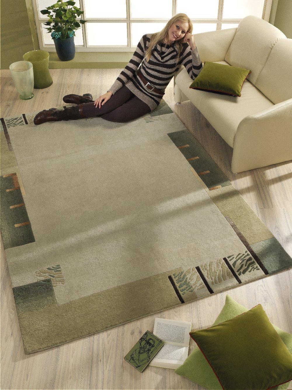 """Luxor Living Nepal Teppich handgeknüpft lind """"Größe auswählen"""" 90 x 160 cm"""