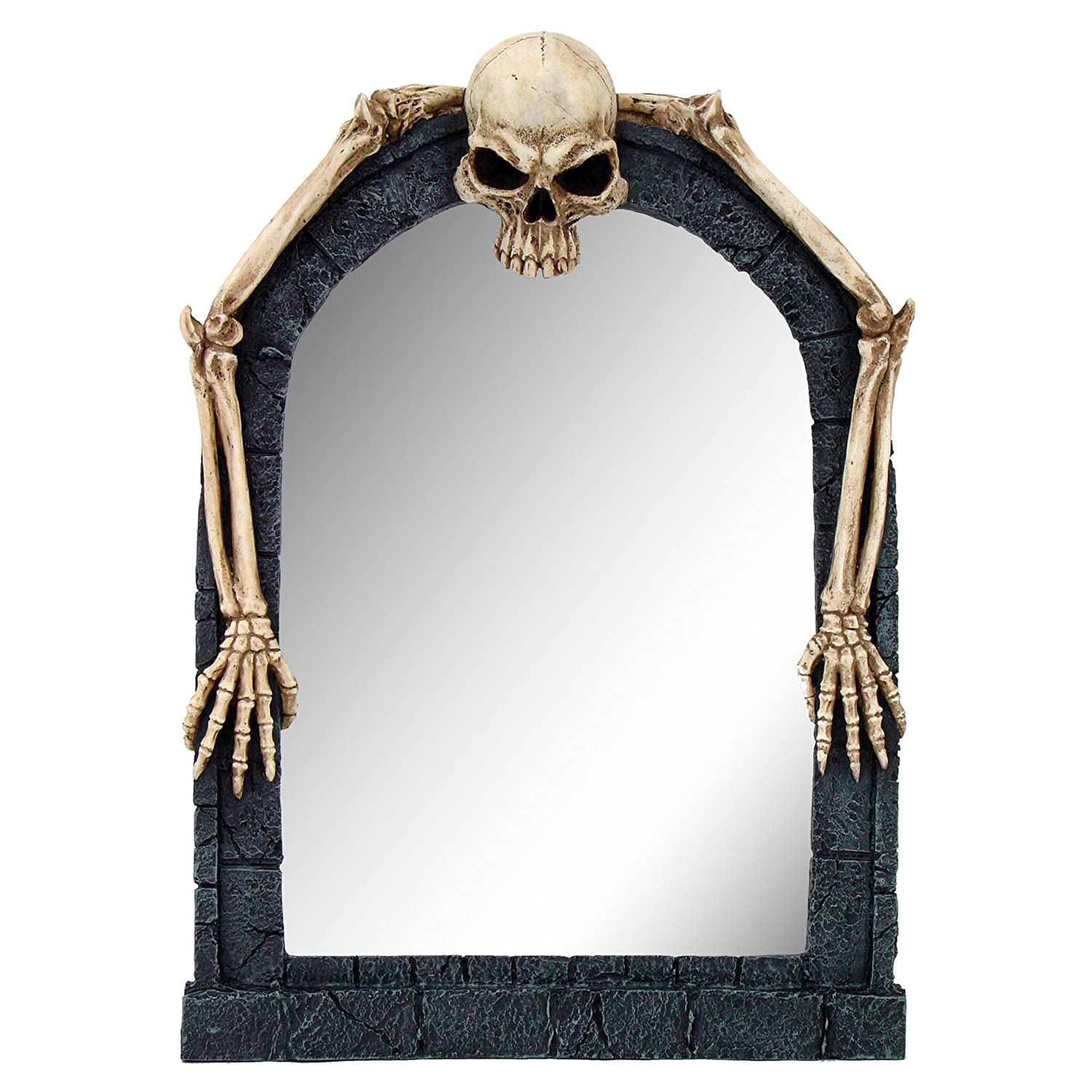 Creepy Gothic Skeleton Wall Mirror Skull Bones