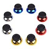 eXtremeRate 4 Pairs Chrome Replacement Joystick Thumbstick Analog Thumb Stick for PlayStation 4 PS4/PS4 Slim/PS4 Pro Controller-Mix Color Red Blue Gold Silver