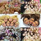 WellieSTR Lot Of 5pcs Doll Heads For Barbie Dolls DIY Birthday Gifts Mix-Style Dolls Heads (Random Stlye,Random Color)