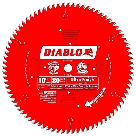 Freud D1080X Diablo 10-Inch 80-tooth ATB Finish Saw