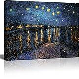 Wall26 - Starry Night Over The Rhone by Van Gogh - Canvas Art Wall Decor-36 x48 (Tamaño: 36