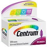 Centrum Women (120 Count) Multivitamin/Multimineral Supplement Tablet, Vitamin D3