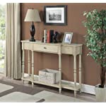 Convenience Concepts Wyoming Antique Console, Antique Ivory