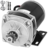 Mophorn 24 Volt 500 Watt Gear Reduction Electric Motor 11 Tooth Sprocket Rated Speed: 450RPM for electric ATV QUAD TRIKE GO-KART or DIY (Tamaño: 500W 24V Brushed)