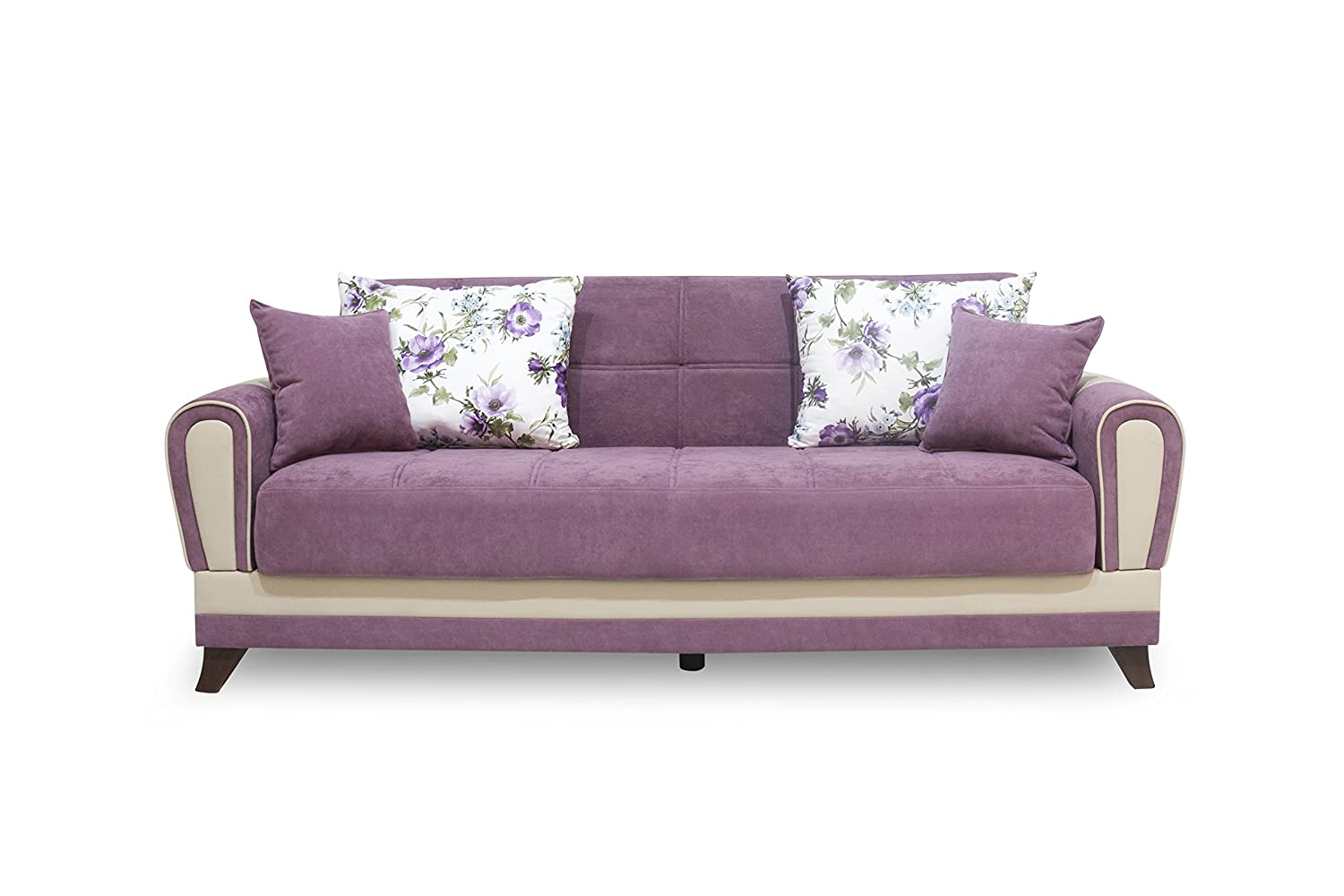 Urban living lima three seater sofa cum bed grape wine for Sofa bed amazon