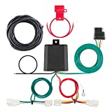 CURT 56350 Vehicle-Side Custom 4-Pin Trailer Wiring Harness for Select Toyota Avalon, RAV4 (Color: Black)
