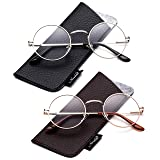 John Lennon Glasses Hippy 60's Vintage Retro Round Designer Inspired Walrus Style Sunglasses & Clear Lens Eye Glasses with Comfortable Spring Temple (Color: 2 Pack Clear Lens - Sliver & Gold, Tamaño: One Size)