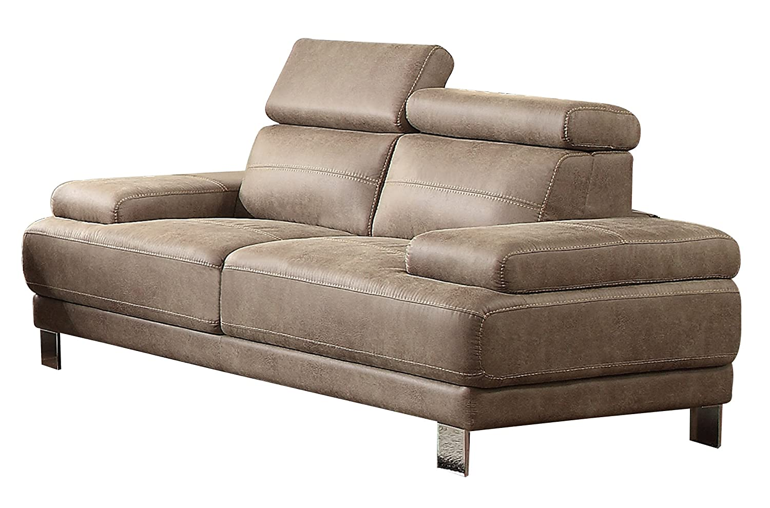 Homelegance 8434-2 Contemporary Structural Style with Adjustable Head Rest Love Seat