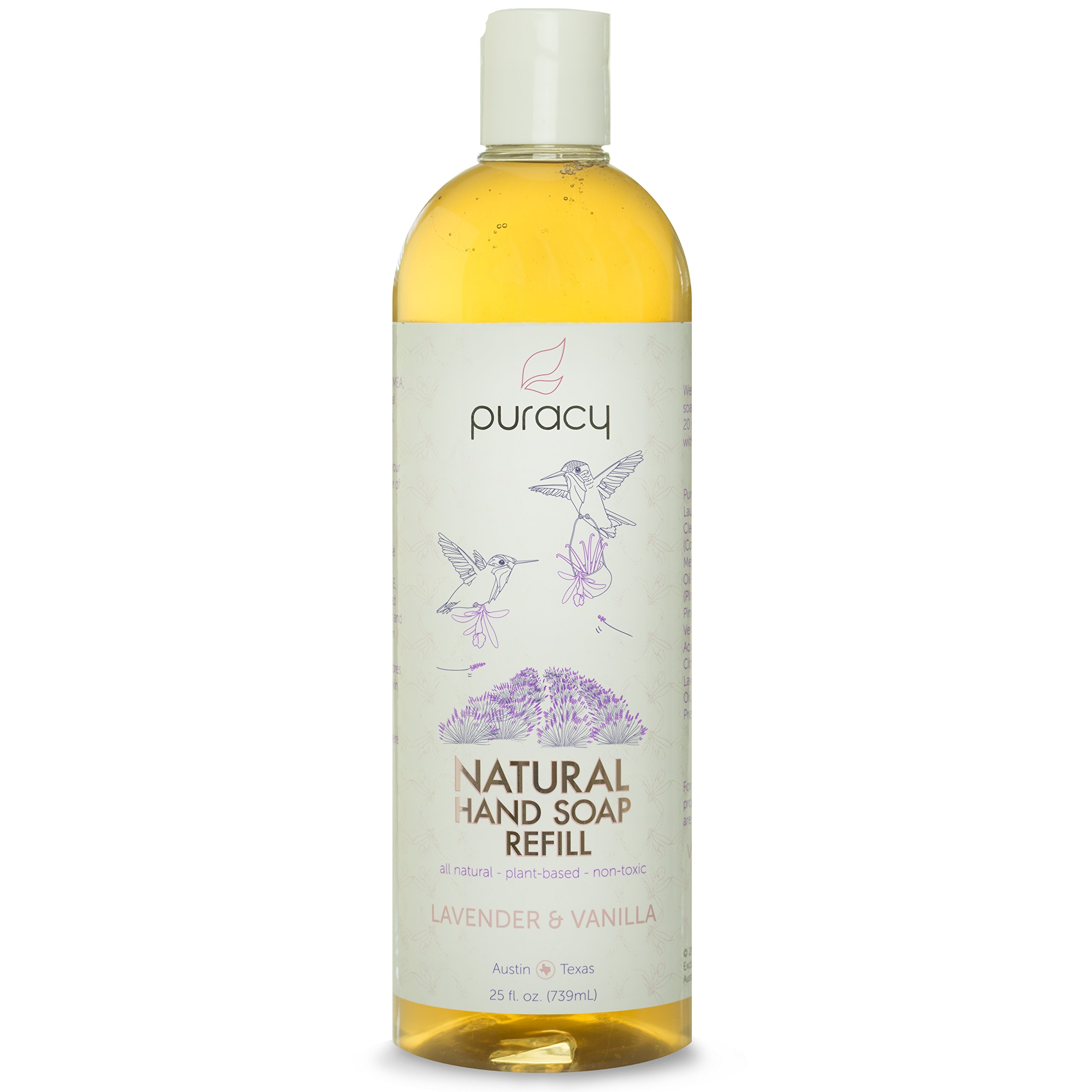 Puracy All Natural Liquid Hand Soap Refill Lavender