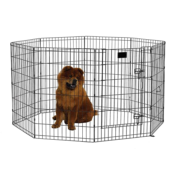 Midwest Black E-Coat Exercise Pen w/Door for Dogs, 36 H, Medium (Color: black, Tamaño: Medium)