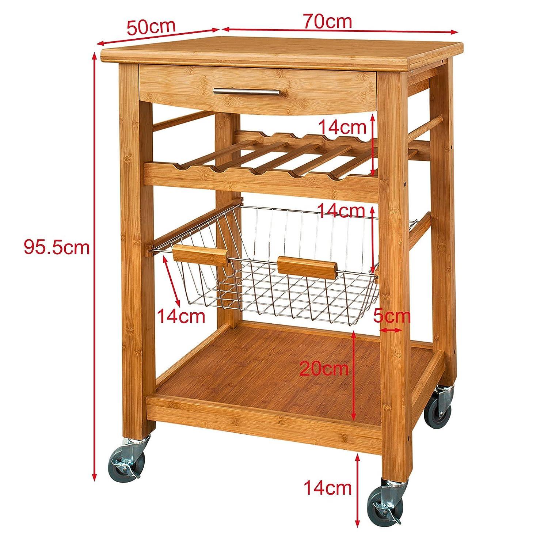 Küchentisch Mit Regal: Küchenwagen, Küchenregal,Servierwagen, Küchentisch