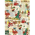 Cavallini & Co. Santa Decorative Decoupage Poster Wrapping Paper Sheet
