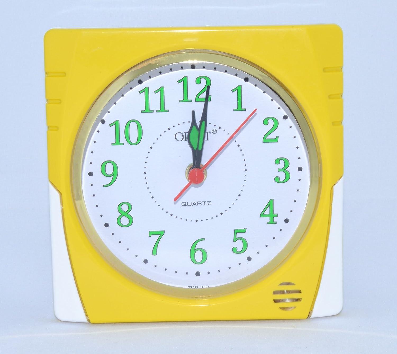 Orpat Beep Alarm Clock (Yellow, TBB-357)