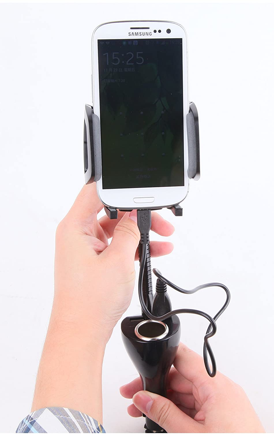 cigarette lighter cell phone mount