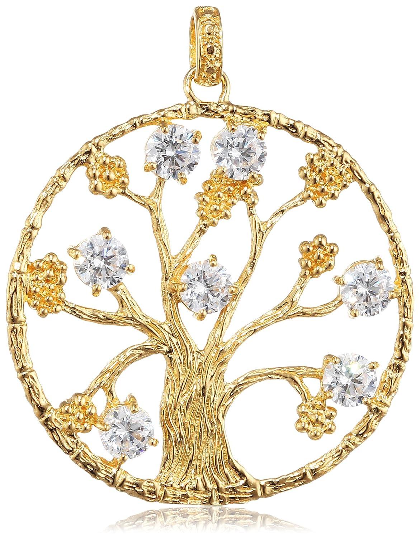Julie Julsen Damen-Anhänger 925 Silber  – vergoldet rhodiniert Zirkonia transparent – JJ7950.3 kaufen