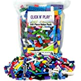 Click n' Play - 500 pc Value Pack of Building Bricks - Tight Fit and Compatible with Lego
