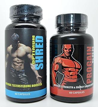 Progain 500 Neue und Bessere Muskelkraft & Energieoptimierung 60 Kapseln & Optimum Shred Testosteron Booster Fitnessstudio & Strom Supplement 60 Kapseln