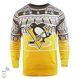 FOCO NHL Pittsburgh Penguins Mens Light Up Bluetooth Speaker Sweaterlight Up Bluetooth Speaker Sweater, Team Color, Medium