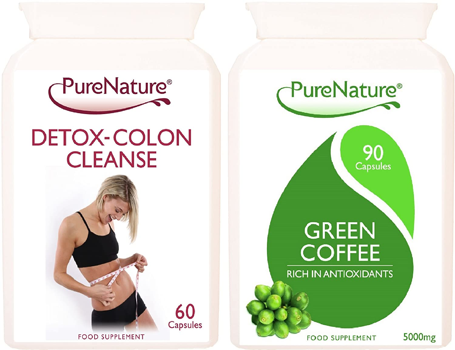 Green Coffee Bean Extract 100% Pure Highest Strength 5000mg + Detox Colon Cleanse UK Premium Made Products Vegetarian Capsules one months supply deck mounted 5 pcs tub faucet brass chrome polish bathtub shower set swivel spout tap