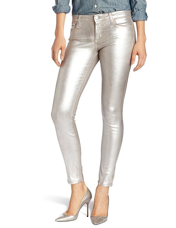 Joe's Women's Skinny Ankle Foil Jean in Silver