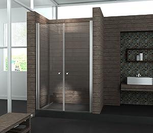 Walk In 6 mm Duschwand Duschabtrennung Nischentür Dusche 120 x 195 cm SALOTTO  Kritiken und weitere Informationen