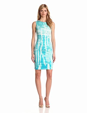 ELIE TAHARI Women's Emory Dress, Placid Blue, 14
