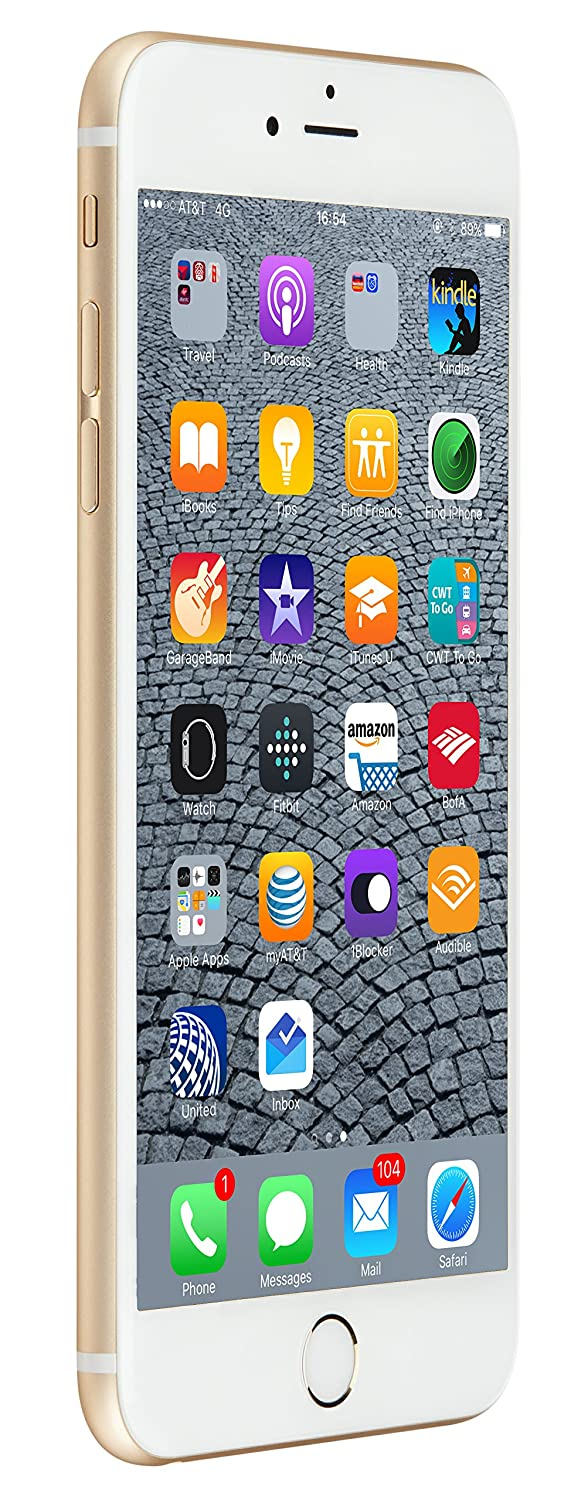 Apple iPhone 6s Plus 128 GB US Warranty Unlocked Cellphone - Retail Packaging (Gold)