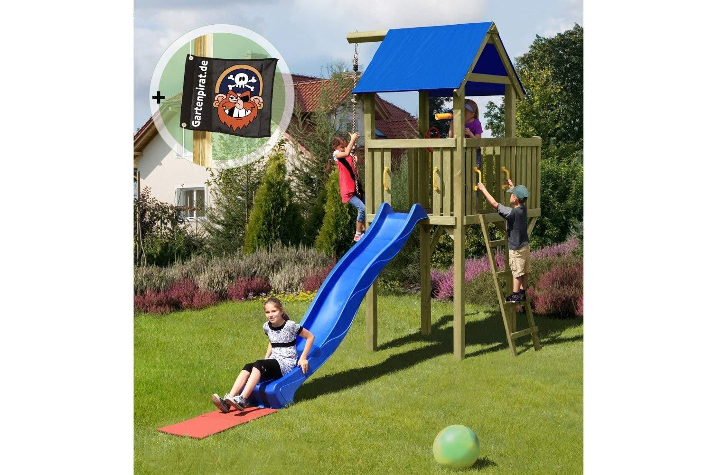 Gartenpirat Spielturm Eroberer 118x118x350 cm mit Rutsche 300 cm jetzt kaufen