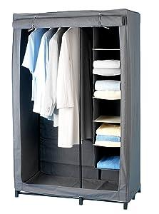 WENKO 4381670100 Kleiderschrank Libertà inklusive Wäschesortierer, PolypropylenFaserstoff, 101.5 x 162.5 x 50.5 cm, Grau    Bewertungen und Beschreibung
