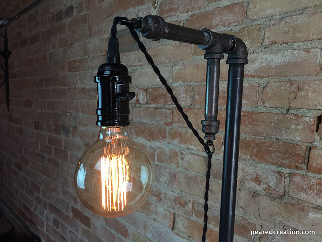 Industrial Style Floor Lamp - Pendant Edison Bulb 4