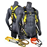 KwikSafety (Charlotte, NC) SUPERCELL COMBO | 3D Ring Full Body Safety Harness, 6' Lanyard, Tool Lanyard, ANSI OSHA PPE Fall Protection Arrest Restraint Equipment Universal Construction Roofing Bucket (Color: Harness + Lanyard + Tool Lanyard, Tamaño: COMBO (SAVE $5))