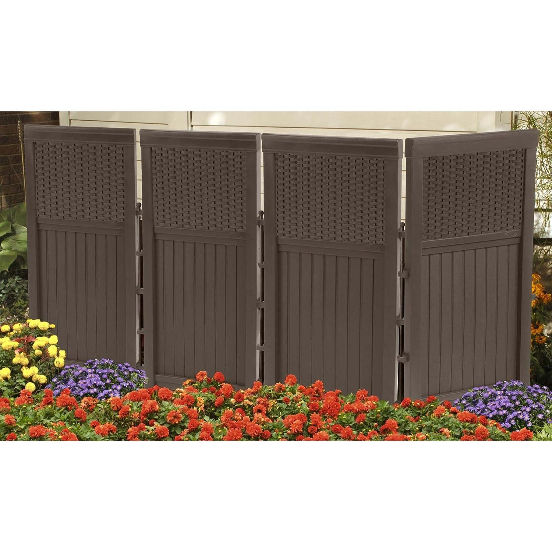Garden enclosure fence ider wicker 4 panel outdoor scree privacy gate patio ebay