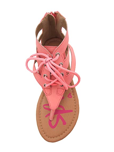 Karylle-77 Little Girls Flat Thong Sandals with Lace