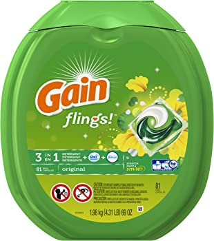 Gain Flings 81-Count Detergent Pack