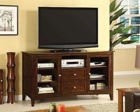 Furniture of America Renimen Media Console, 60-Inch, Dark Walnut Finish