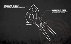 Southwire Tools & Equipment Ratcheting Cable Cutters (Color: Black, Tamaño: 600 kcmil CU/600 kcmil AL)