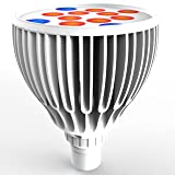 Led Grow light Bulb, Lampat Grow Plant Light for Hydropoics Greenhouse Organic 24W 3-Band