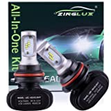 ZX1 9004 HB1 8000LM LED High Low Dual Beam Headlight Conversion Kit,High Low Beam in One Bulb,Replace Halogen Headlamp All-in-One Conversion Kits,CSP Technology,6500K Xenon White,Fanless design,1 Pair