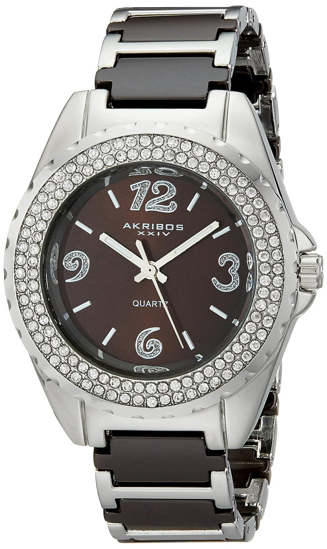 Akribos XXIV Women's AK514BR Ceramic Crystal Bracelet Watch
