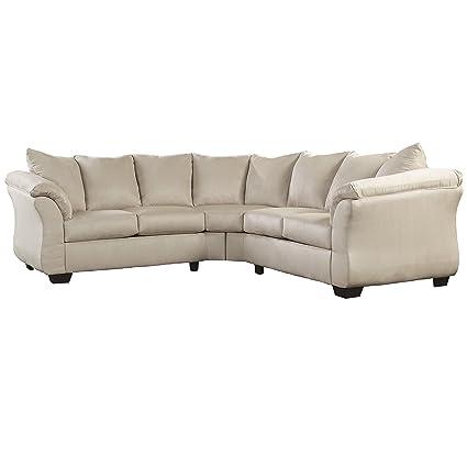 Flash Furniture Darcy Sectional Sofa, Stone Fabric