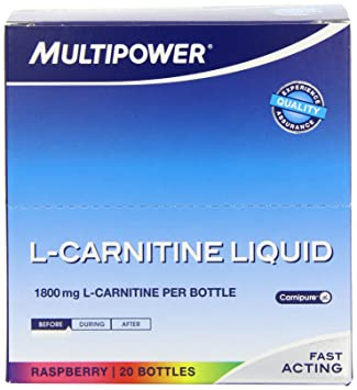 Multipower L-Carnitine Liquid forte Himbeer 20 Ampullen, 1er Pack (1 x 500 ml)